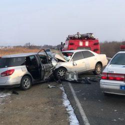 Госавтоинспекция устанавливает обстоятельства автоаварии со смертельным исходом на трассе Находка - Лазо