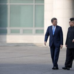 Президент Южной Кореи встретился в субботу с лидером КНДР