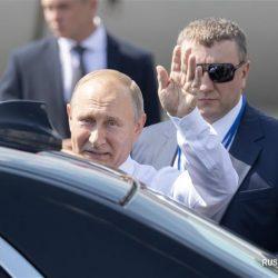 Президент РФ В.Путин прибыл в Хельсинки
