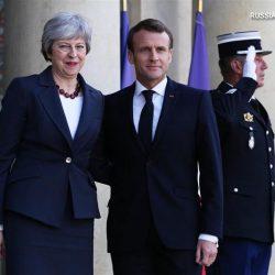 Премьер-министр Великобритании Тереза Мэй посетила Францию с визитом