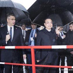 Ли Кэцян и А. Пленкович проинспектировали строительство Пелешацкого Большого моста