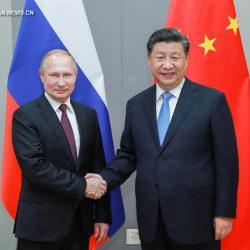 Си Цзиньпин провел встречу с В. Путиным