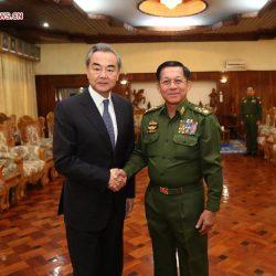 Ван И встретился с главнокомандующим армии национальной обороны Мьянмы Мин Аун Хлаингом